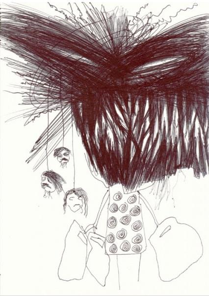Christian Moeller, Untitled, 14,8 x 21 cm, ball pen on paper